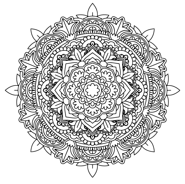 Soul Mandala 1 Colouring In Download